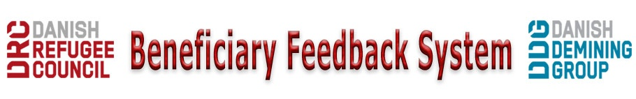 Danish Refugee Council Beneficary Feedback System